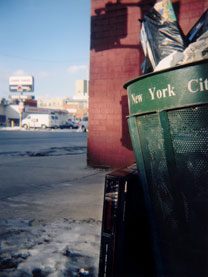 NYC garbage can